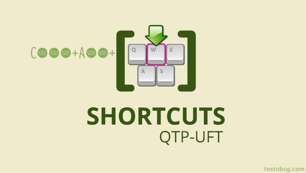 shortcut keys in QTP UFT