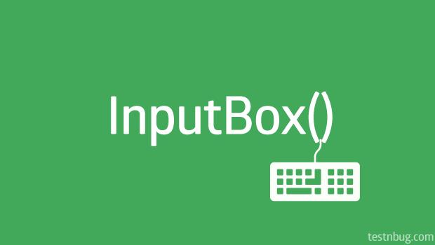Input-box in UFT QTP